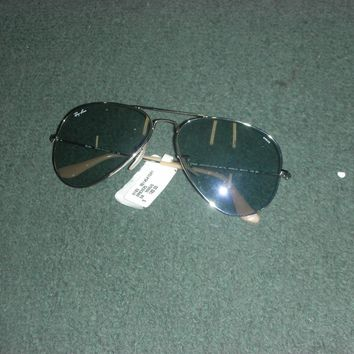 *New* RAY-BAN RB3025 9065/I5 Aviator Large Metal Silver Photo Blue Sunglasses
