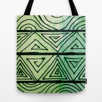 Zentangle Aztect Pattern Tote Bag by Idle Amusement