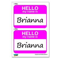 Brianna Hello My Name Is - Sheet of 2 Stickers