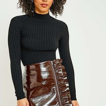Urban Outfitters Ribbed Funnel Neck Jumper | Urban Outfitters
