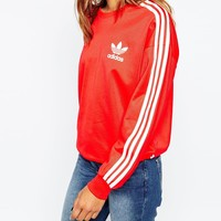 adidas Originals 3 Stripe Crew Neck Sweatshirt at asos.com