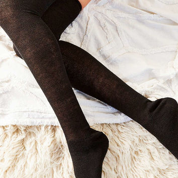 Out From Under Basic Lightweight Thigh High Sock - Urban Outfitters