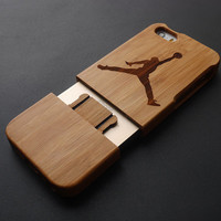 Jordan Bamboo Wood Case Cover for iPhone 5 , 5S - Dark Bamboo Wood iPhone 5S Case - Natural iPhone 5 Case Wood - Custom iPhone5 Case Wood