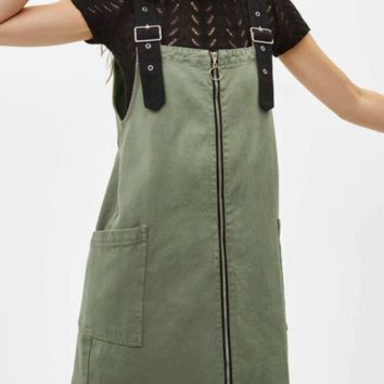 New summer hot selling sexy zipper pocket tank top dress with straps