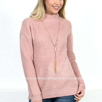 Pretty'n Pink Fuzzy Sweater