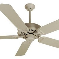 """Craftmade Lighting PF52AW Porch - 52"""" Ceiling Fan, Antique White Finish Shown with Antique White Blades"""