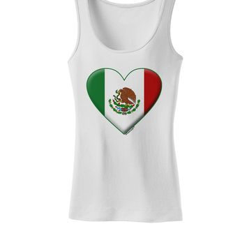 Mexican Flag Heart - Beveled Womens Tank Top by TooLoud