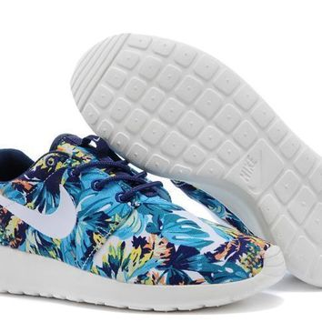 Nike Roshe Run Sport Casual Shoes Sneakers Blue Size 36-44-1