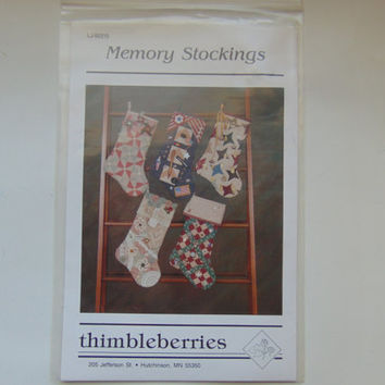 Christmas Holiday Memory Stockings by Thimbleberries Craft Sewing Pattern