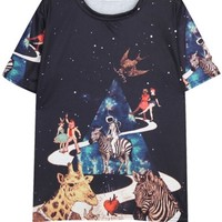 Cartoon Galaxy Tee - OASAP.com