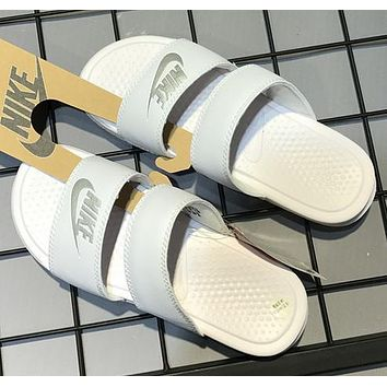Nike Double Straps Sports Slippers-2