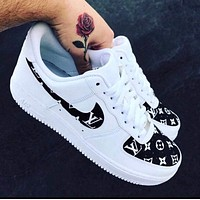 """Air Force 1 """"Supreme L V"""" (with front and back tab) Customs 2"""