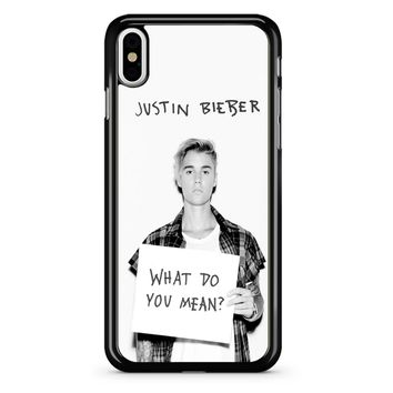 Justin Bieber What Do You Mean iPhone X Case