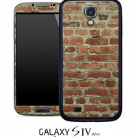 Brick Wall Skin for the Samsung Galaxy S4, S3, S2, Galaxy Note 1 or 2