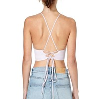 After Party Vintage Bianca Crop Top - Pink
