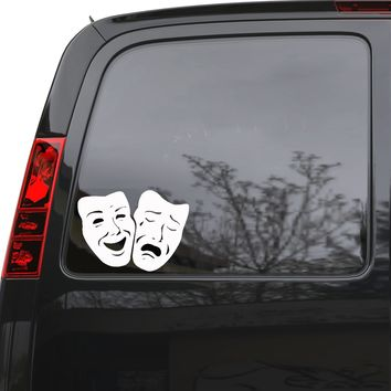 "Auto Car Sticker Decal Masks Comedy and Tragedy Truck Laptop Window 7"" by 5"" Unique Gift m309c"