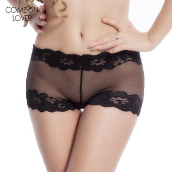 DY29 Comeonlover top selling Sexy Lingerie Sexy Lace Underwear Ladies Boyshort Women Sexy Panties Color solid Plus Size Panty