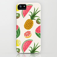 Fruits of Summer iPhone & iPod Case by Pink Berry Pattern