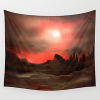 Passion in the sky Wall Tapestry by Viviana Gonzalez