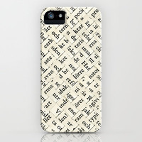 Between The Lines iPhone & iPod Case by Oscar Lind Modin
