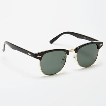 PacSun Small 50 Fifty Black & Gold Sunglasses - Mens Sunglasses - Black - NOSZ
