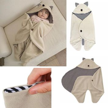 Baby Sleeping Bags Clothing Sets Envelope For Baby Newborns Fashion Blanket Swaddle Cute Cartoon Baby Bedding Set V40