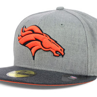 Denver Broncos NFL Heather 2 Tone 59FIFTY Cap