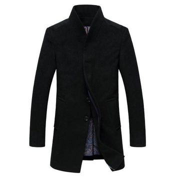 The Thompson Wool Topcoat Black