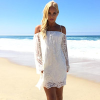 Cheshire Gardens Lace Dress In Ivory