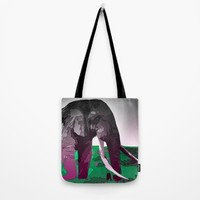 Elephant Tote Bag by Animilustration