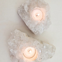 Quarts Cluster Candle Holder