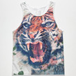 Blue Crown Tiger Mens Tank White  In Sizes