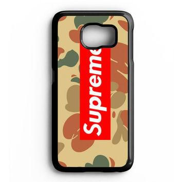 SUPREME CAMO HORIZONTAL Samsung Galaxy S6 Case