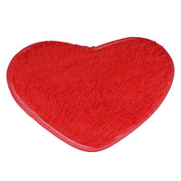 2016 New 1pcs Memory Foam Bath Mat Bathroom Heart Style Rug Non-slip Bath Mats 9 Solid Colors Available 40*28cm