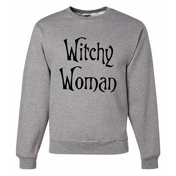 7 ate 9 Apparel Men's Witchy Woman Halloween Sweatshirt