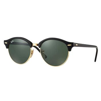 Cheap Ray-Ban RB4246 901 Clubround Black Frame Green Classic 51mm Lens Sunglasses