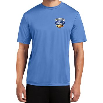 Ford Mustang T-shirt Genuine Parts Pocket Print Moisture Wicking Tee
