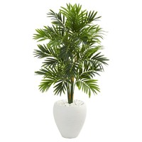 4' Areca Artificial Palm Tree in White Planter - h: 4 ft. w: 26 in. d: 26 in - Free Shipping Today - Overstock.com - 26741680
