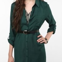 UrbanOutfitters.com > Sparkle & Fade Roll-Tab Shirtdress