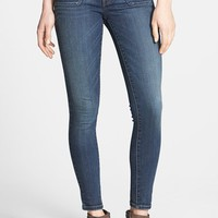STS Blue Porkchop Pocket Skinny Jeans (Dark) (Juniors)