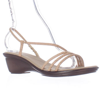 Finest by Onex Brady Low Wedge Slingback Sandals - Cork