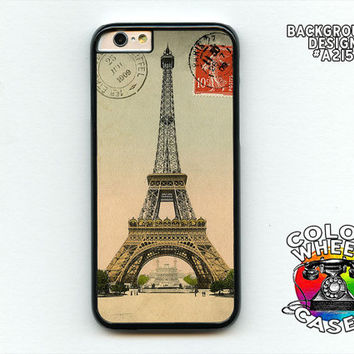 Phone case, Eiffel Tower, Paris, France, vintage photo on, iphone 6, 6 plus, Galaxy, Galaxy Note by Colorwheel Cases