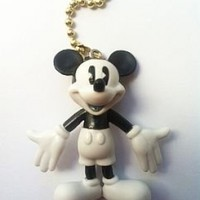 NEW Disney Retro Mickey Mouse Figural Ceiling Fan Pull Light Lamp
