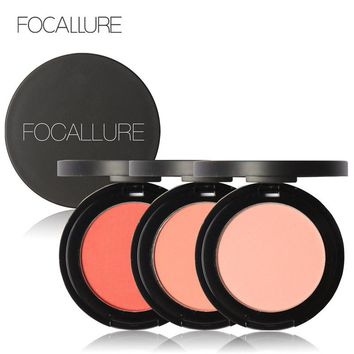 Focallure Face Blush Powder Daily Use Colorful Face Blush Powder Cheek Contour Blush Bronzer Beauty Makeup