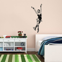 Vinyl Decal Sport Figure Skating Girl Skating On Ice Sportswoman Home Wall Decor Stylish Sticker Mural Unique Design for Any Room V774