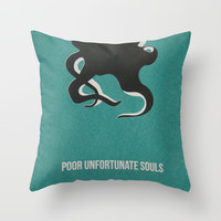 Disney Villains- Ursula Throw Pillow by Tessa Simpson