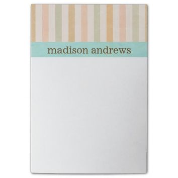 Pretty Pastel Vertical Stripes Pattern Post-it® Notes