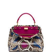 Fendi - Peekaboo Mini Multicolor Python Satchel - Saks Fifth Avenue Mobile