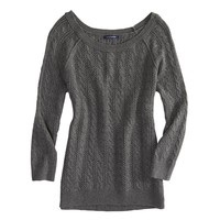 AEO Factory Cable Knit Crew Sweater | American Eagle Outfitters