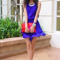 Zara Trafaluc Royal Blue Dress
